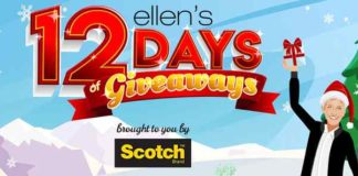 Ellen's 12 Days sweepstakes