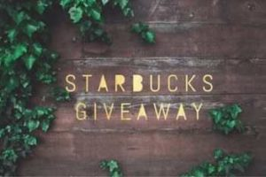 $150 Starbucks Giftcard Giveaway