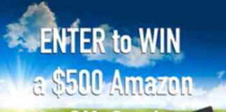 Free $500 Amazon Giftcard Giveaway
