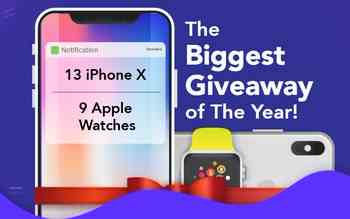 PureVPN - Win 1 out of 13 iPhone X & 9 Apple Watch
