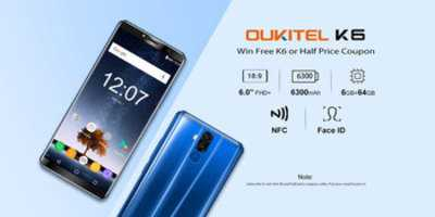 Oukitel K6 Smartphone Giveaway