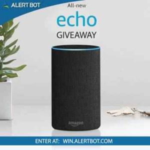 Win Amazon Echo from Alertbot
