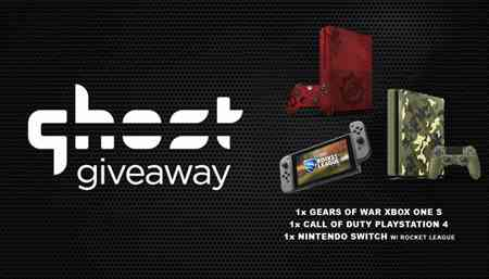 Win Xbox One S, PS4, & Nintendo Switch from Ghost Gaming