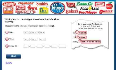 kroger feedback customer satisfaction survey sweepstakes