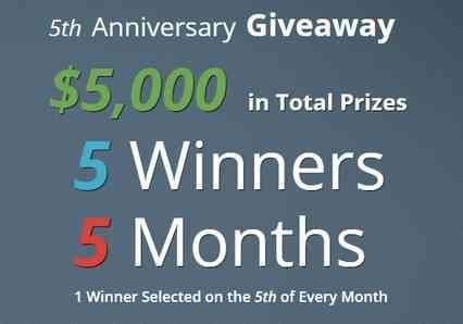 Debt.com 5th Anniversary Giveaway
