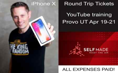 Self Made Apple iPhone X Giveaway (Also Trip to Provo Utah)