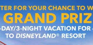 Disney Pixar Pier Getaway Sweepstakes - Win Disneyland Resort Vacation