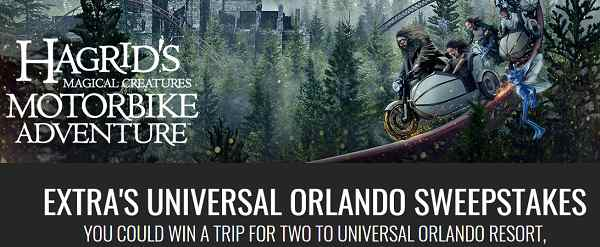 Extra TV Universal Orlando Sweepstakes Secret Word of the