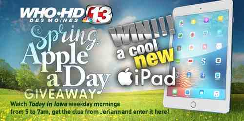 (Daily) WhoTV - Channel 13's Spring Apple A Day Giveaway