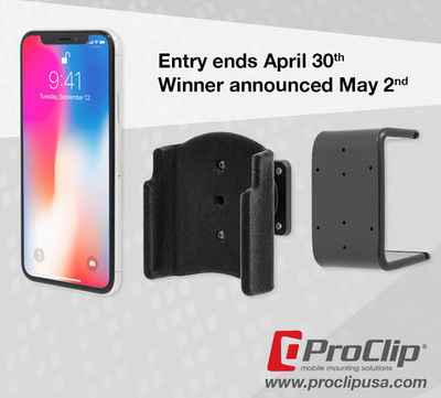 Win Apple iPhone X from ProClip USA