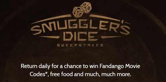 Denny's Smuggler's Dice Instant Win Game