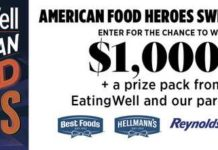 EatingWell American Food Heroes Sweepstakes
