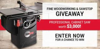 Fine Woodworking SawStop Professional Cabinet Saw Giveaway