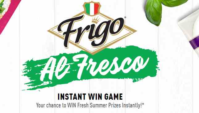 Frigo Al Fresco Instant Win Game & Sweepstakes