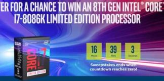 Intel 8th Gen Core 8086k Processor Sweepstakes
