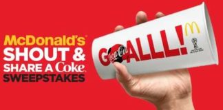 McDonalds Shout Share a Coke Sweepstakes