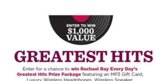 Rachael Ray Greatest Hits Sweepstakes