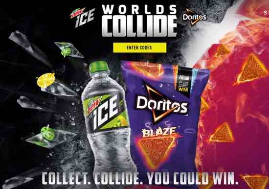 Worlds Collide MTN Dew Ice and Doritos Contest