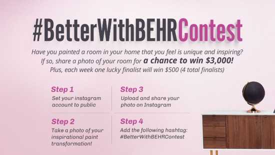 HGTV Better With Behr Contest