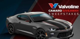 PowerNation Valvoline Camaro Giveaway Sweepstakes
