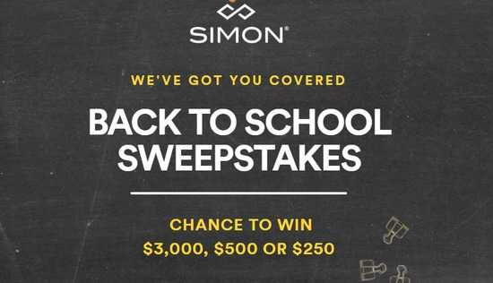 Simon Malls Back To School Sweepstakes