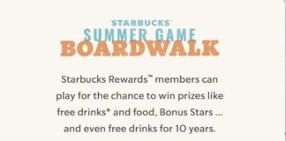 Starbucks Summer Game Boardwalk Instant Win Game