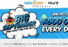 94.7 Lottostar Competition – Win Up to R800,000 Daily