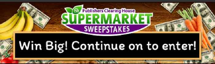 Publishers Clearing House Supermarket Sweepstakes ($1 Million Cash)