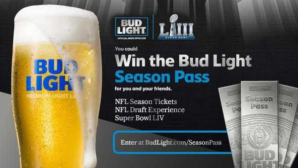 Bud Light Season Pass Sweepstakes