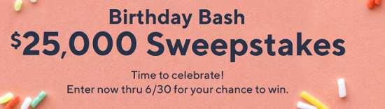 QVC Birthday Bash Sweepstakes 2019 (Win $25,000 cash)